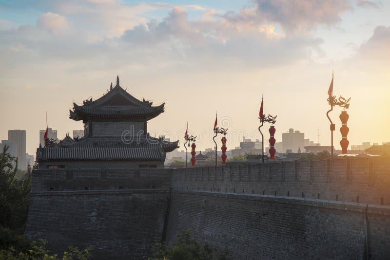 De stadsmuur van Xian royalty-vrije stock foto
