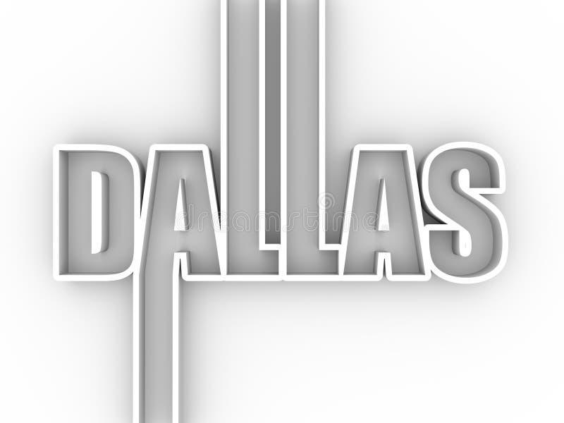 De stadsnaam van Dallas vector illustratie