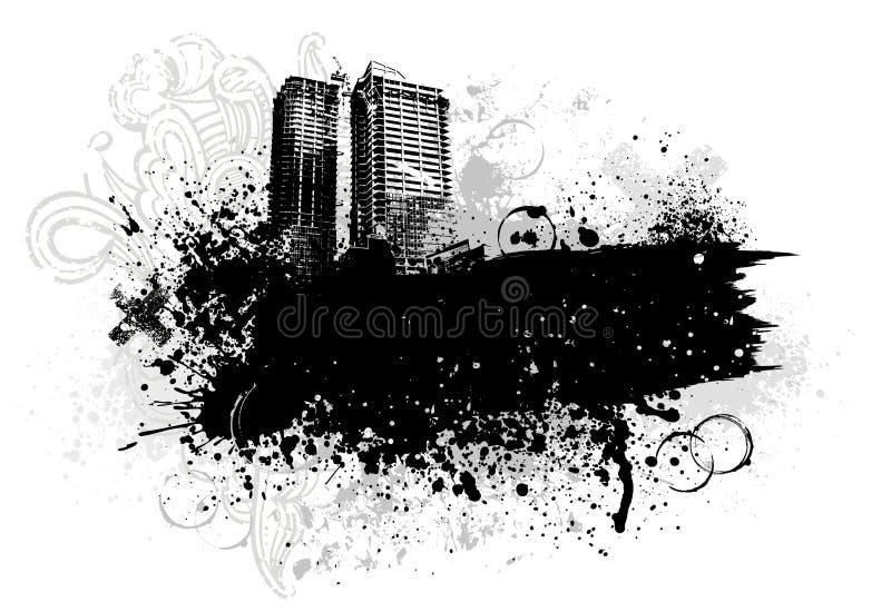 De stadsontwerp van Grunge vector illustratie