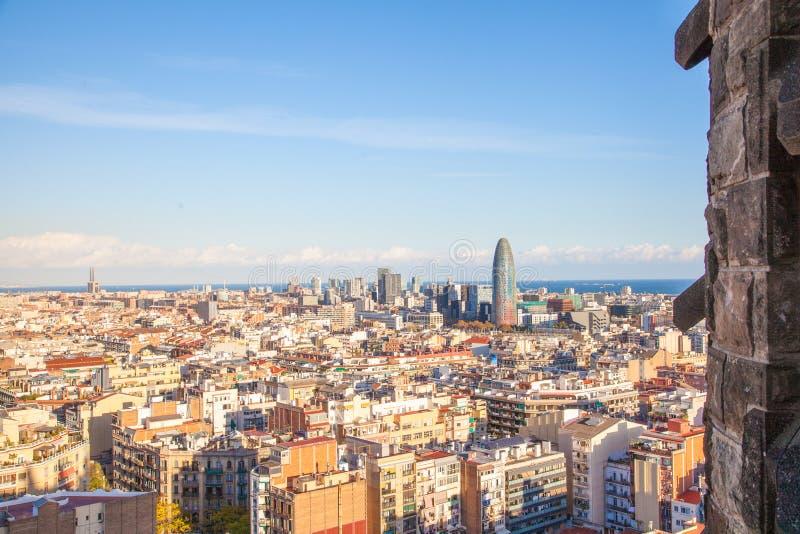 De Stadsoverzicht van Barcelona stock afbeelding