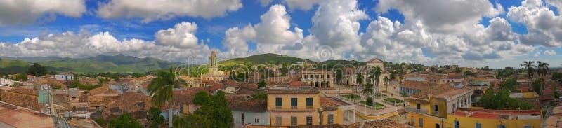 De stadspanorama van Trinidad, Cuba stock foto's