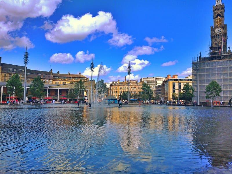 De stadspark van de spiegelpool stock fotografie