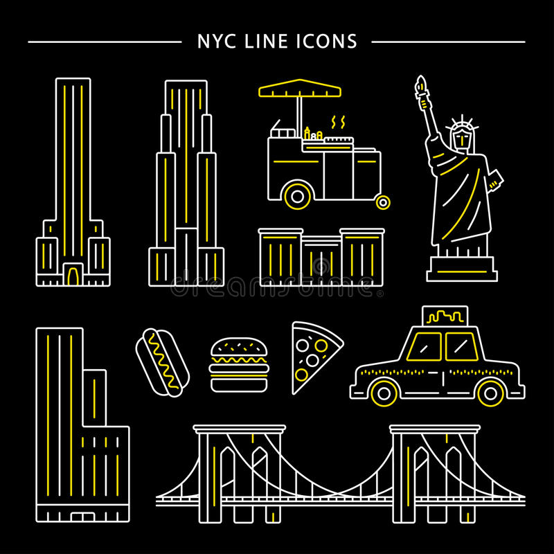 De Stadspictogram van New York royalty-vrije illustratie