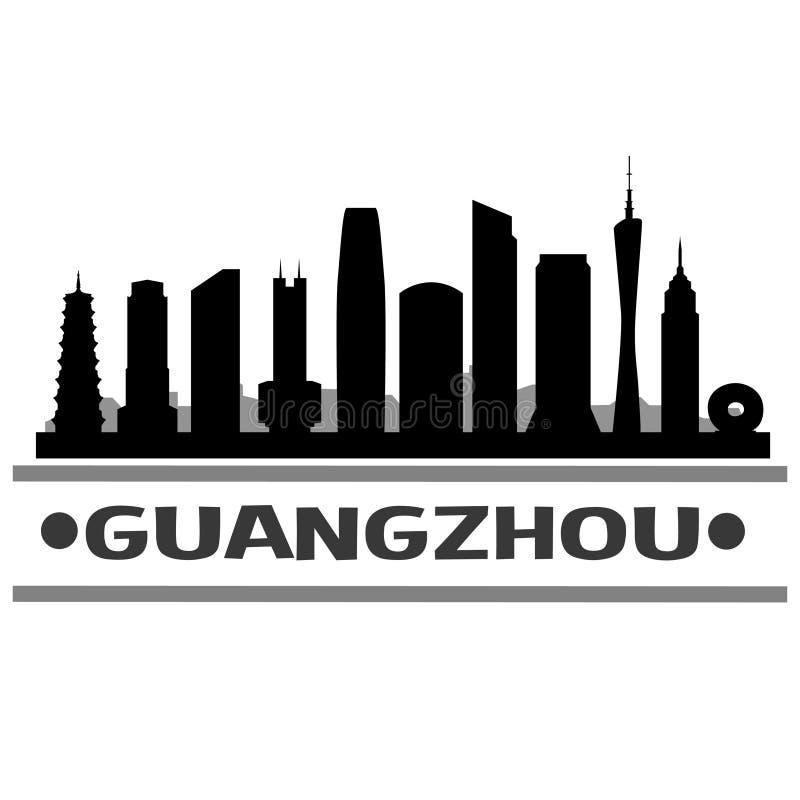 De Stadspictogram Vectorart design van de Guangzhouhorizon vector illustratie