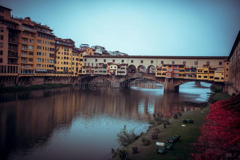 De stadsrivier van Florence royalty-vrije stock foto's