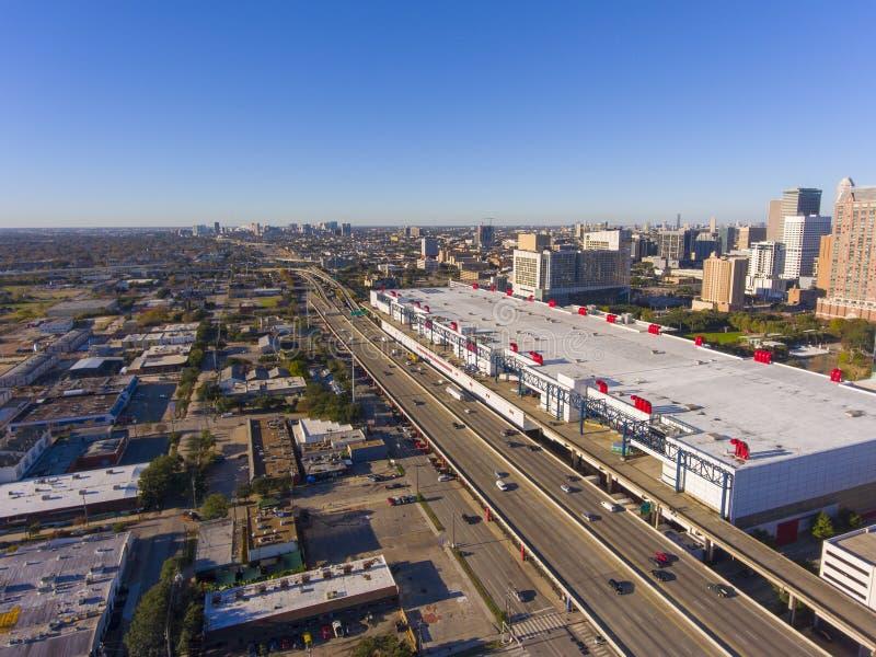 De stadssatellietbeeld van Houston, Houston, Texas, de V.S. stock afbeeldingen