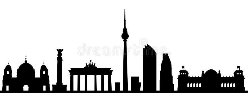 De stadssilhouet van Berlijn - vector illustratie