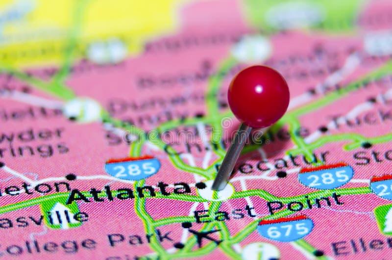 De stadsspeld van Atlanta stock afbeeldingen