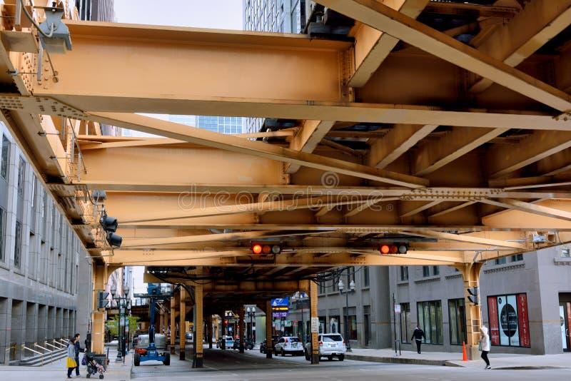 De stadsspoorweg van Chicago royalty-vrije stock foto's