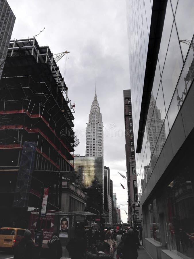 De stadsstraten van New York stock afbeelding