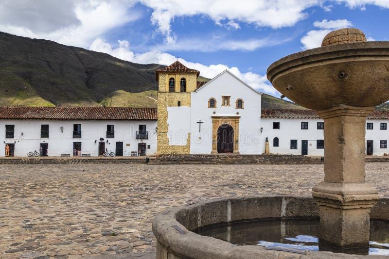 De stadsstraten van villade leyva stock afbeeldingen