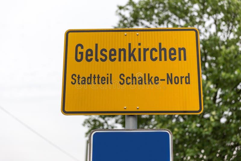 De stadsteken Duitsland van Gelsenkirchen schalke stock fotografie