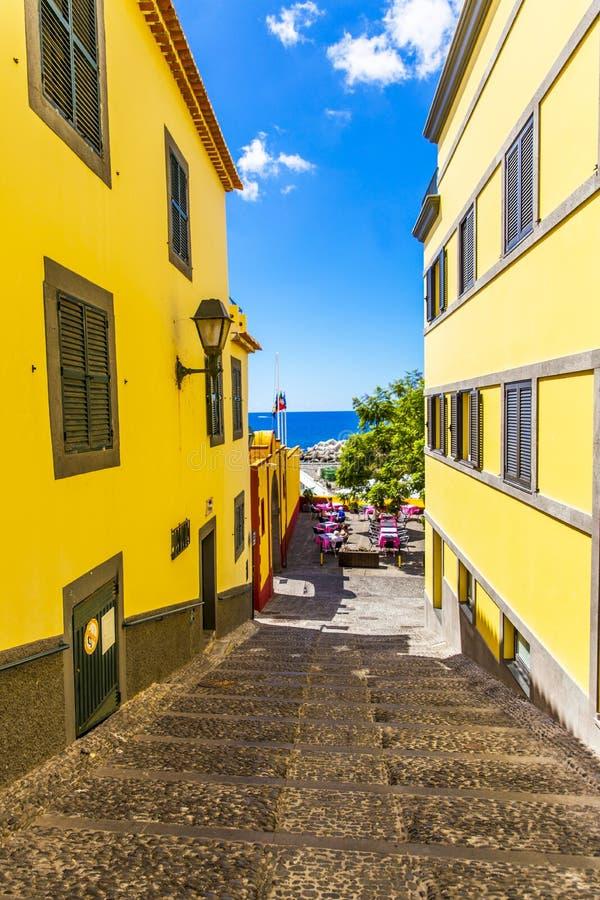 De Stadsvakantie van Funchal stock afbeeldingen