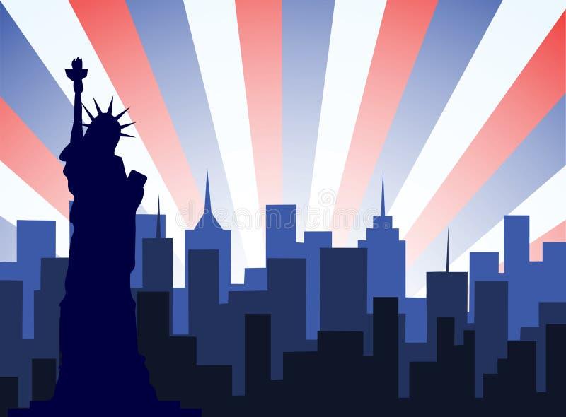 De Stadsvector van New York stock illustratie