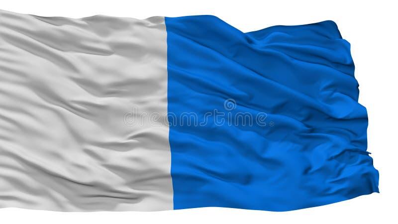 De Stadsvlag van Brescia, Italië, op Witte Achtergrond wordt geïsoleerd die stock illustratie