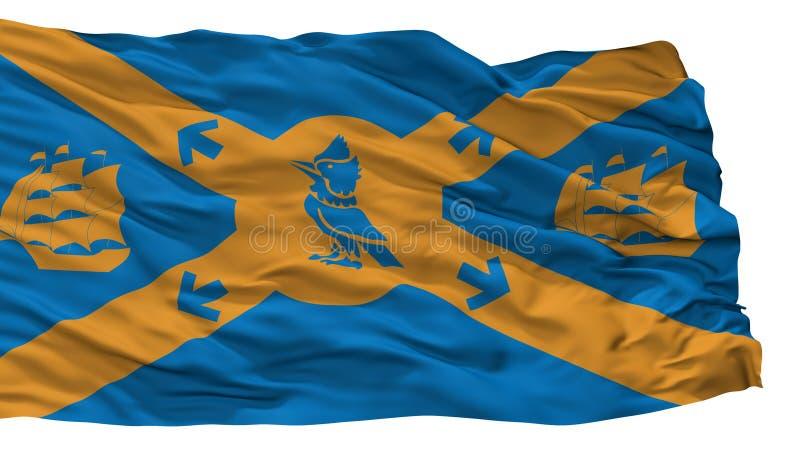 De Stadsvlag van Halifax, Canada, op Witte Achtergrond wordt geïsoleerd die royalty-vrije illustratie