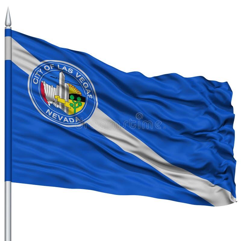De Stadsvlag van Las Vegas op Vlaggestok, de V.S. stock illustratie