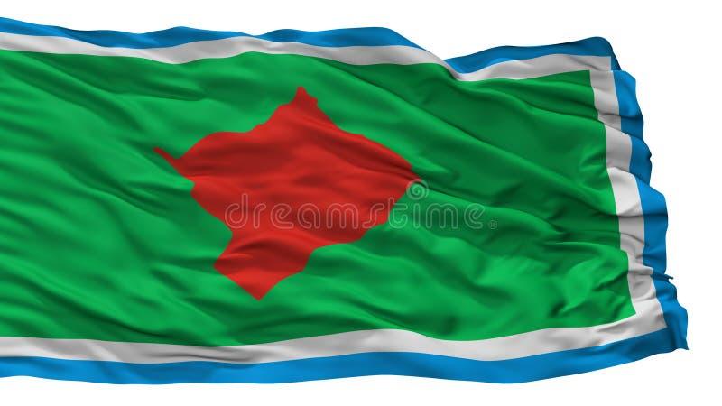 De Stadsvlag van Lasflores, Argentinië, op Witte Achtergrond wordt geïsoleerd die royalty-vrije illustratie