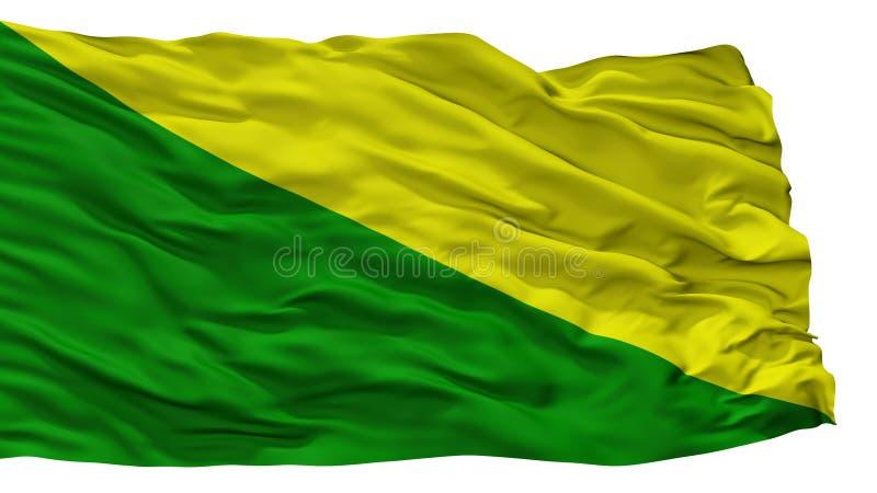De Stadsvlag van Lasmarias, Puerto Rico, op Witte Achtergrond wordt geïsoleerd die royalty-vrije illustratie