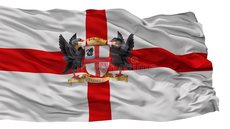 De Stadsvlag van Perth, Australië, op Witte Achtergrond wordt geïsoleerd die vector illustratie