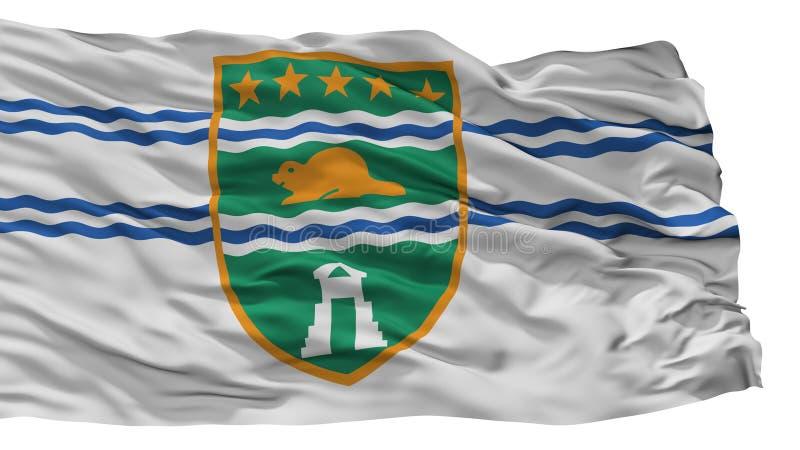 De Stadsvlag van Surrey, de Britse die Colombia Provincie van Canada, op Witte Achtergrond wordt geïsoleerd vector illustratie