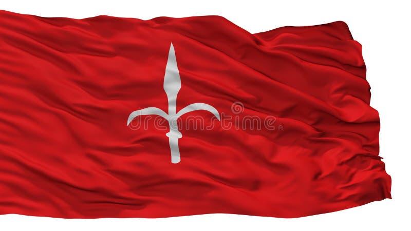De Stadsvlag van Triëst, Italië, op Witte Achtergrond wordt geïsoleerd die royalty-vrije illustratie