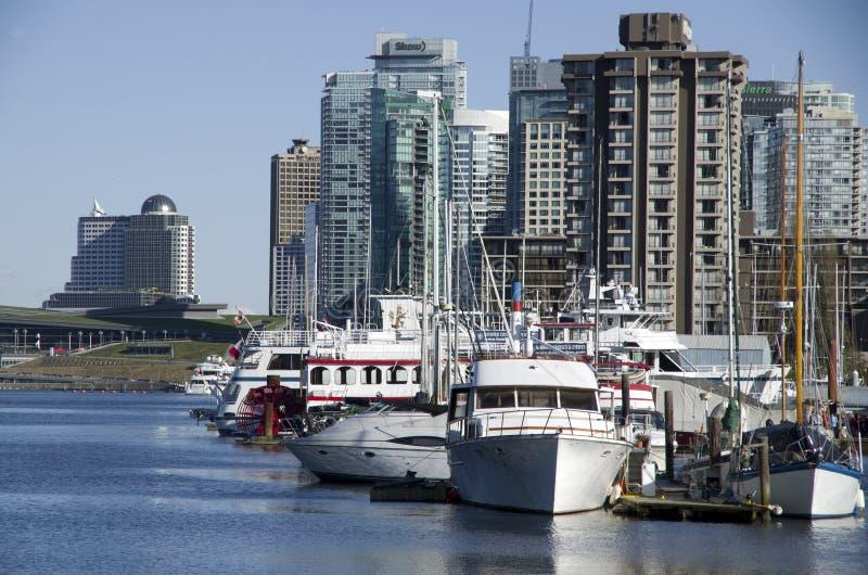 De stadswaterkant van Vancouver stock foto's