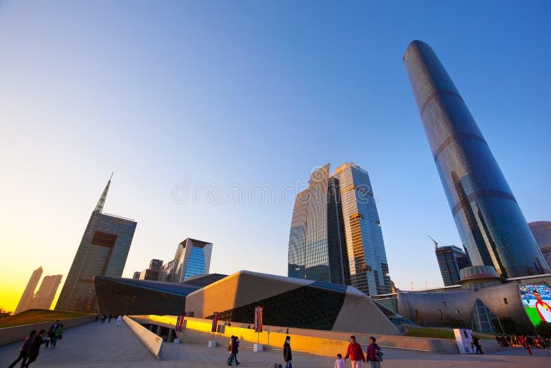 De stadsWolkenkrabber van Guangzhou in China stock foto