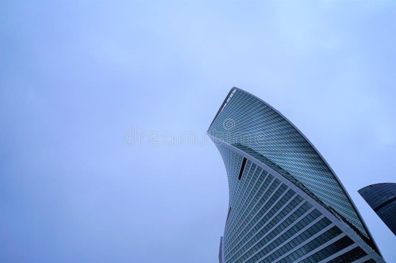De stadswolkenkrabber van Moskou E stock afbeelding