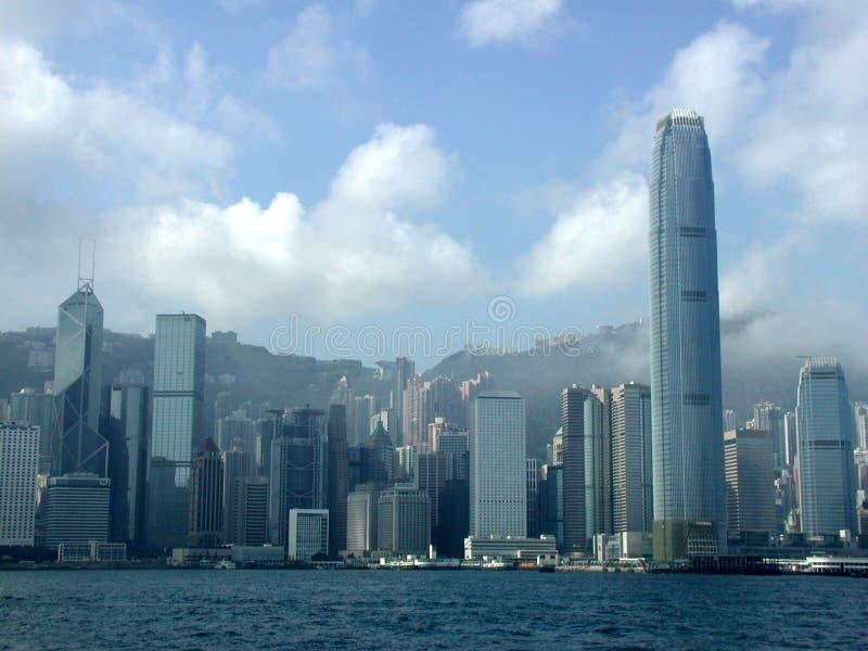 De Stadswolkenkrabbers Van Hongkong Stock Afbeeldingen