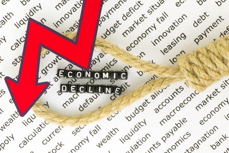 De stagnatie van de economie royalty-vrije stock afbeelding