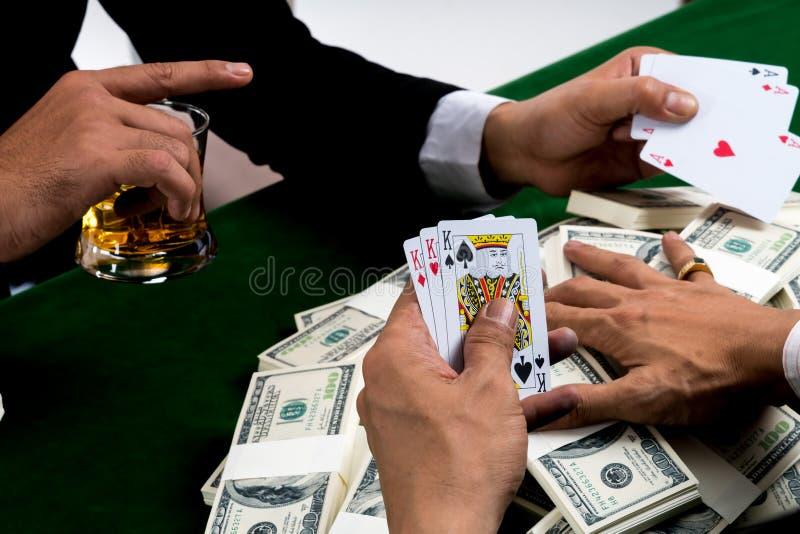 De staken van de het spelgreep van de verliezerspook met spijt royalty-vrije stock foto