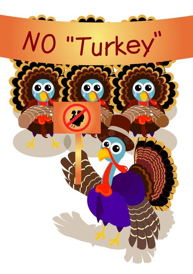 De staking van Turkije vector illustratie