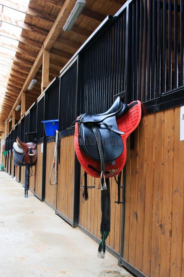 De stal van het paard stock foto
