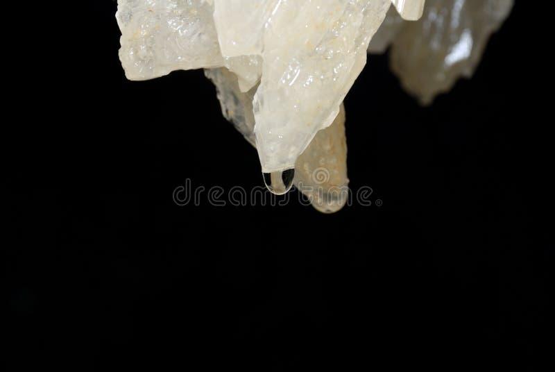 De stalactiet van het hol stock afbeelding