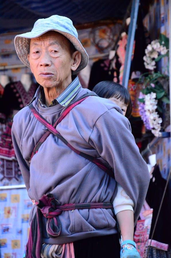 De stam van de Hmongheuvel royalty-vrije stock foto's
