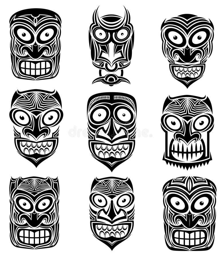 De stammen enge Halloween-illustratie van de schedelmascotte vector illustratie