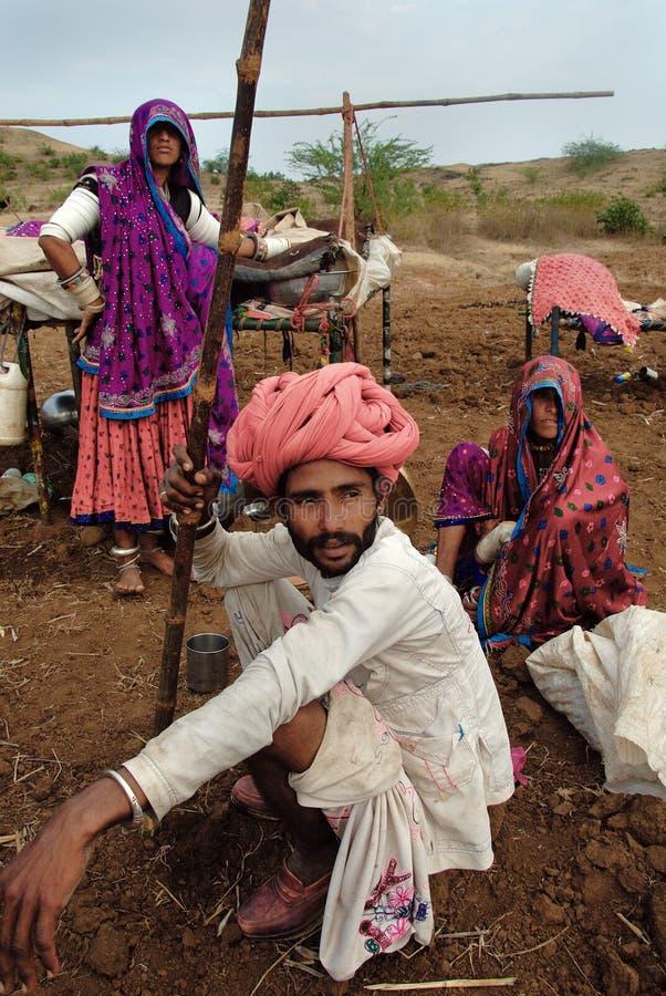 De Stammen van Banjara in India stock fotografie