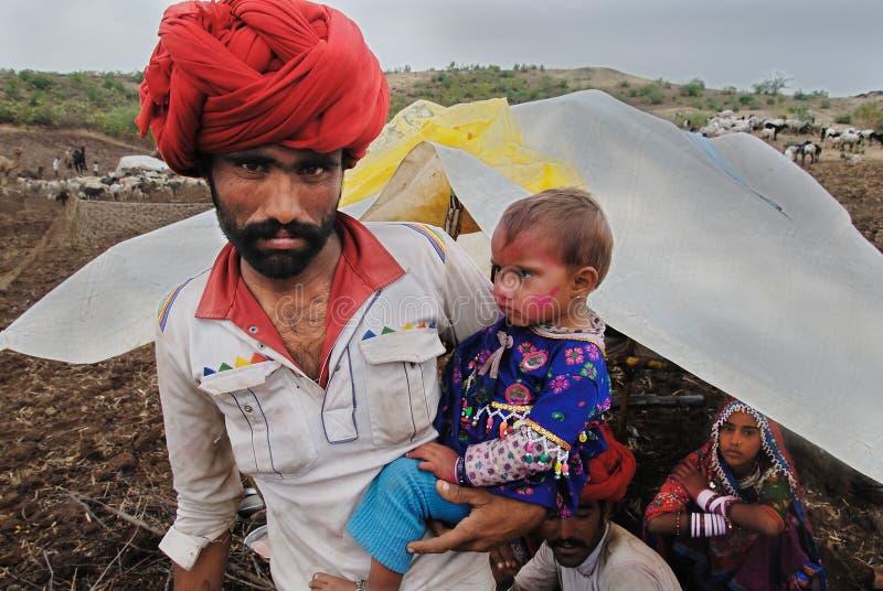 De Stammen van Banjara in India stock foto's