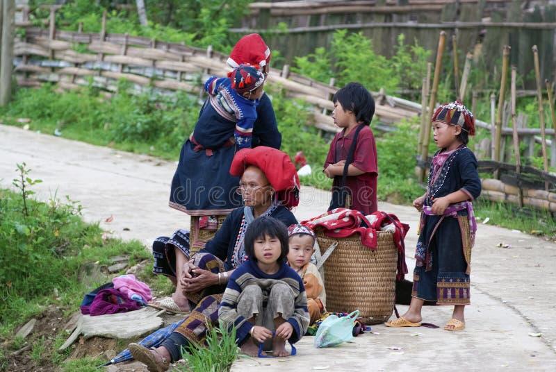 De stammenmensen van de heuvel in Vietnam stock fotografie