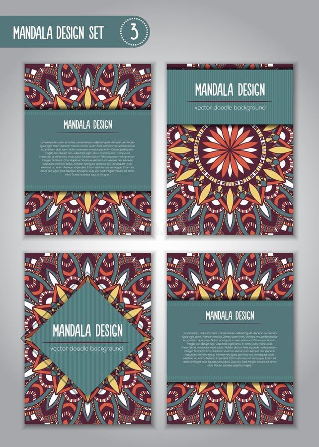 De stammenreeks van het mandalaontwerp Uitstekende decoratieve elementen royalty-vrije stock afbeelding