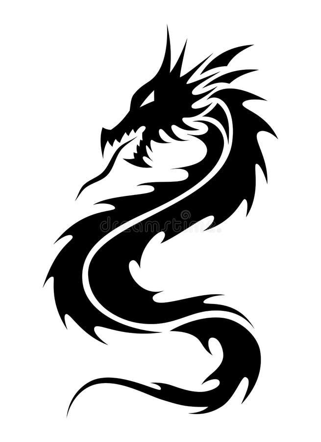 De stammentatoegering van de draak vector illustratie