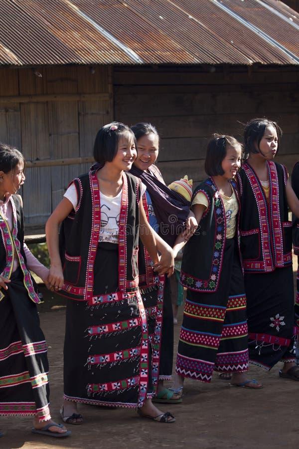 De stamvrouwen van Lahu royalty-vrije stock foto