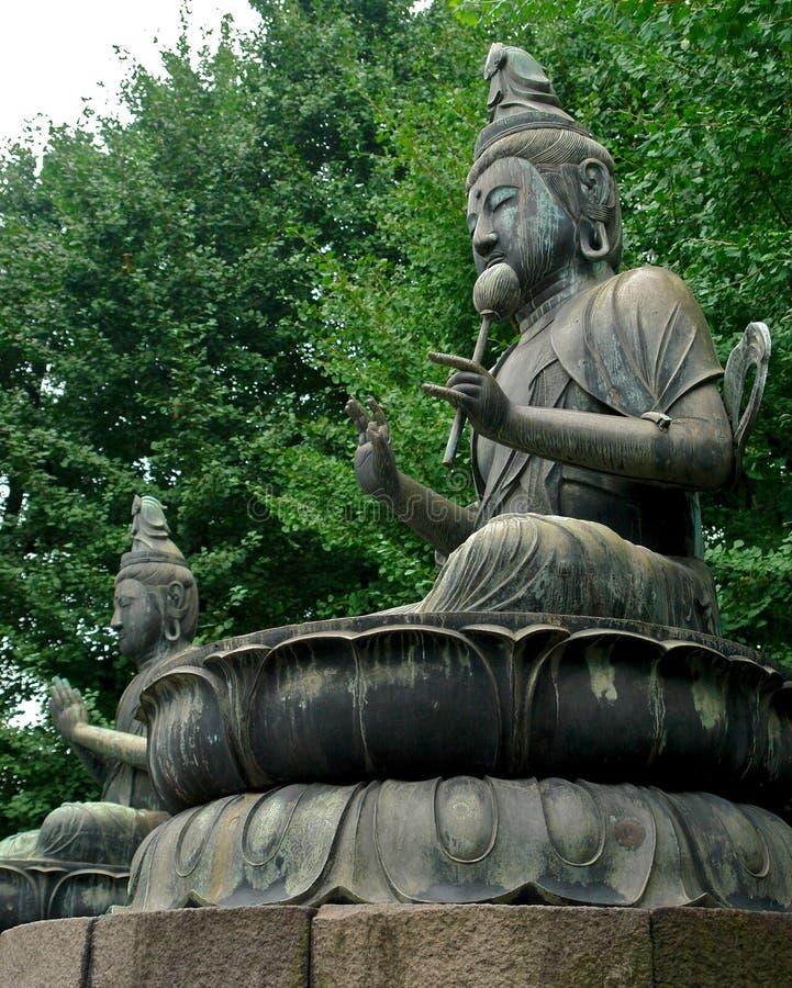 De standbeelden van Boedha stock afbeeldingen