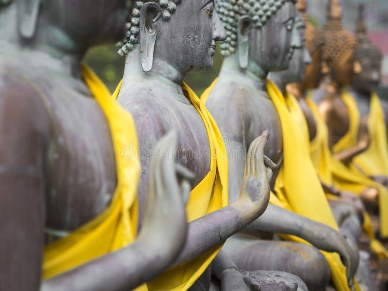 De Standbeelden van Boedha in Seema Malaka Temple, Colombo, Sri Lanka stock fotografie