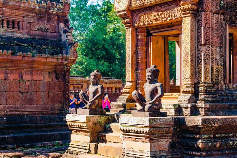 De Standbeelden van Boedha van Banteay Srei stock foto's