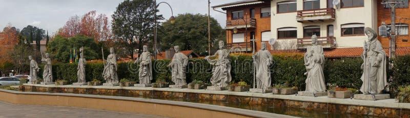 De standbeelden van heilige in Canela, Brazilië royalty-vrije stock afbeelding