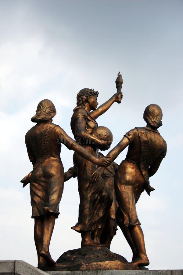 De standbeelden van het brons royalty-vrije stock foto's