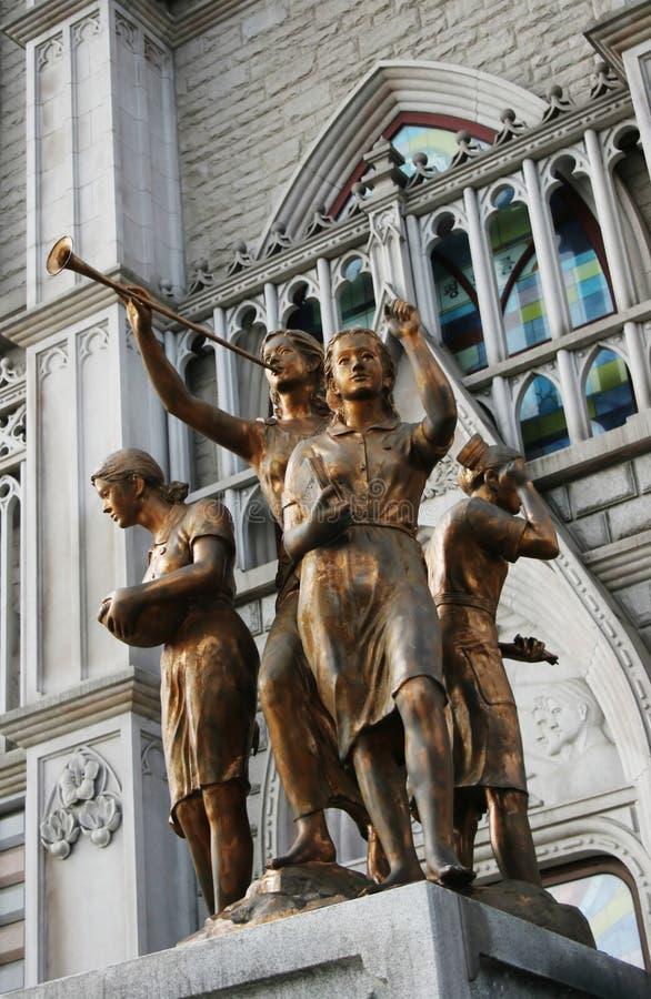 De standbeelden van het brons royalty-vrije stock foto