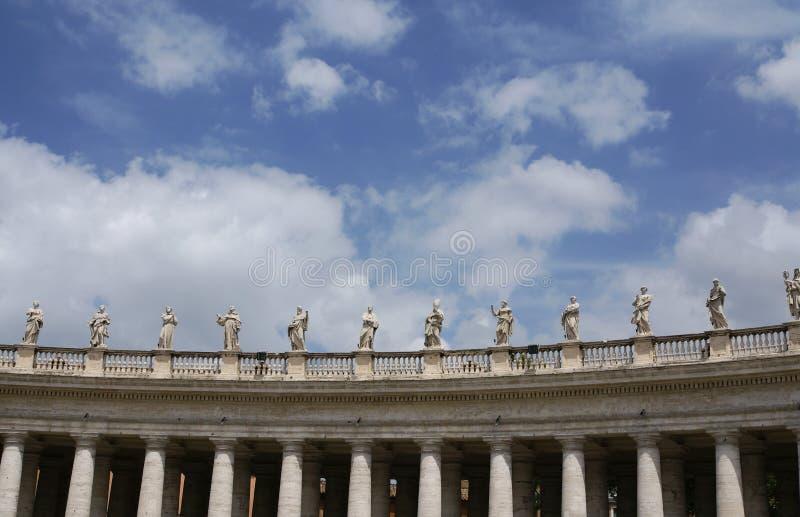 De Standbeelden van Vatikaan stock fotografie